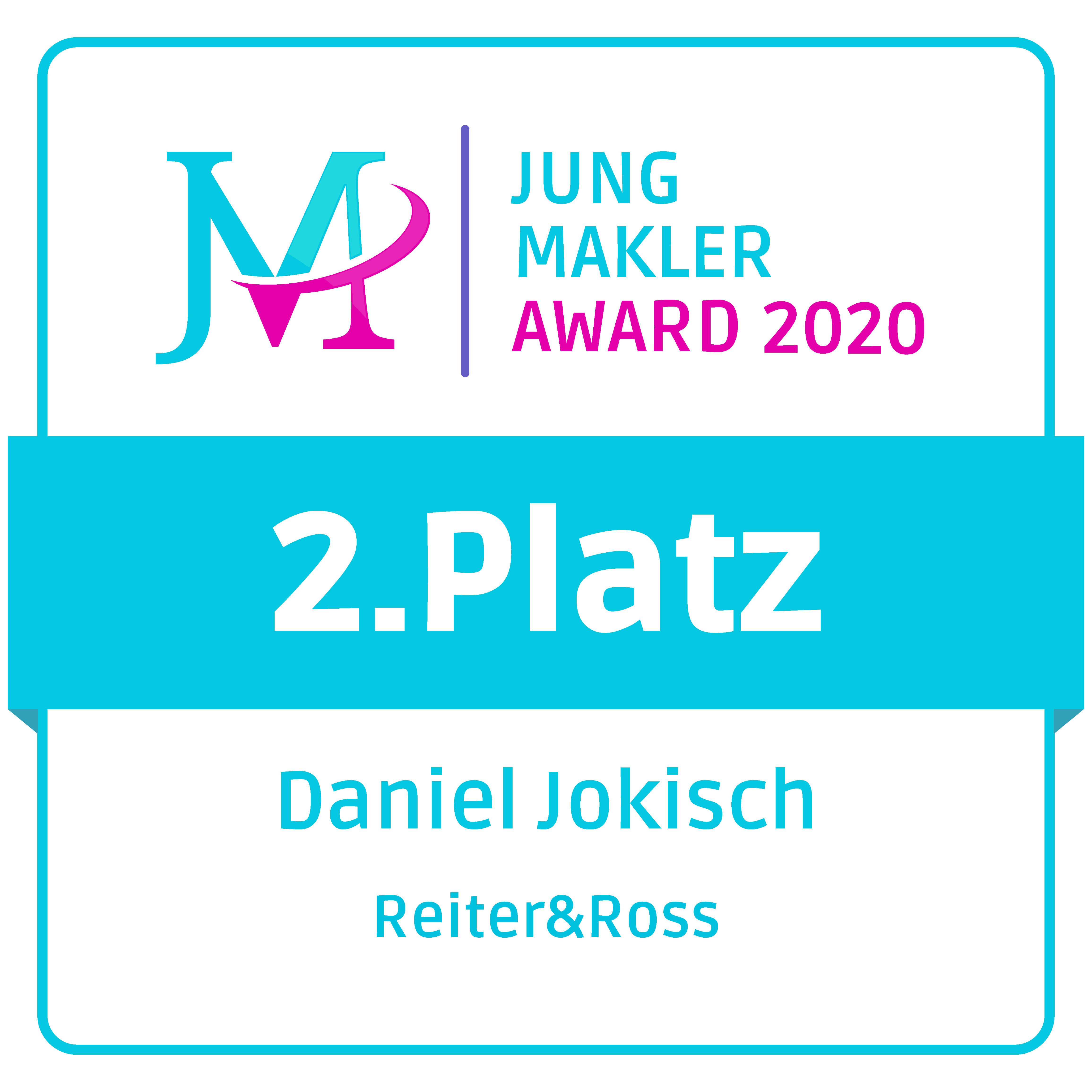 Jung Makler Award für Daniel Jokisch
